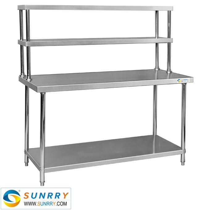 SYWTR Stainless Steel Working Table Two Layers With Shelf W - Stainless steel work table with shelves