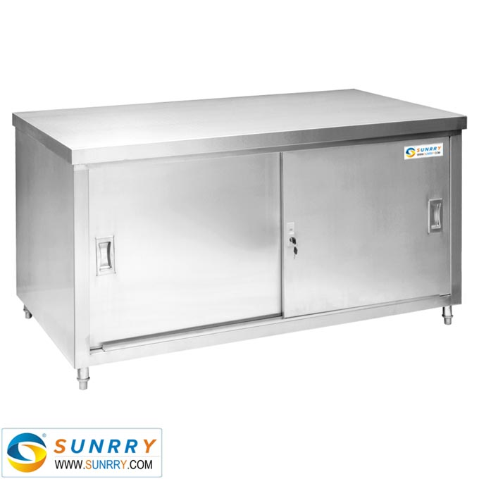 Sy cb712d bench cabinet with siding doors double channel for Kitchen cabinets 700mm